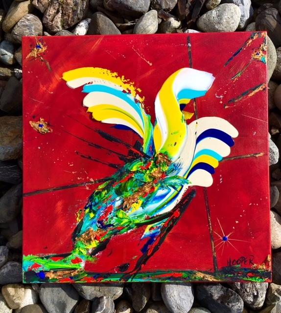 """""""Finding Ka'ar"""" 20"""" x 20"""" Acrylic on Canvas- $400- SOLD"""