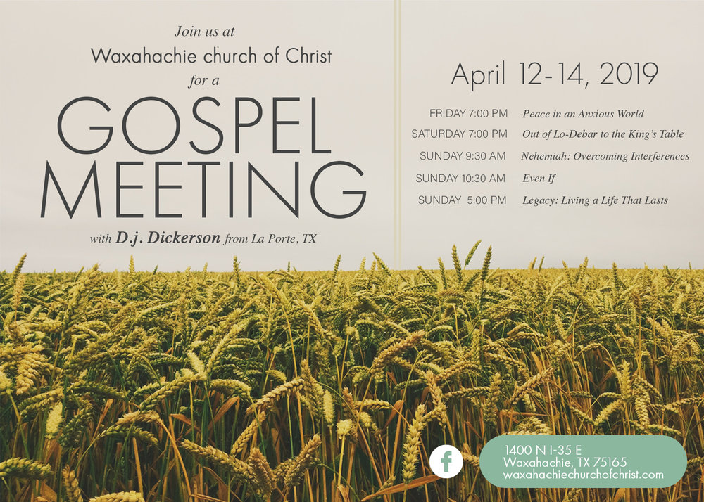 Waxahachie church of christ God Bible Bible study Church Ellis County Texas Ennis Midlothian Cedar Hill Red Oak Corsicana