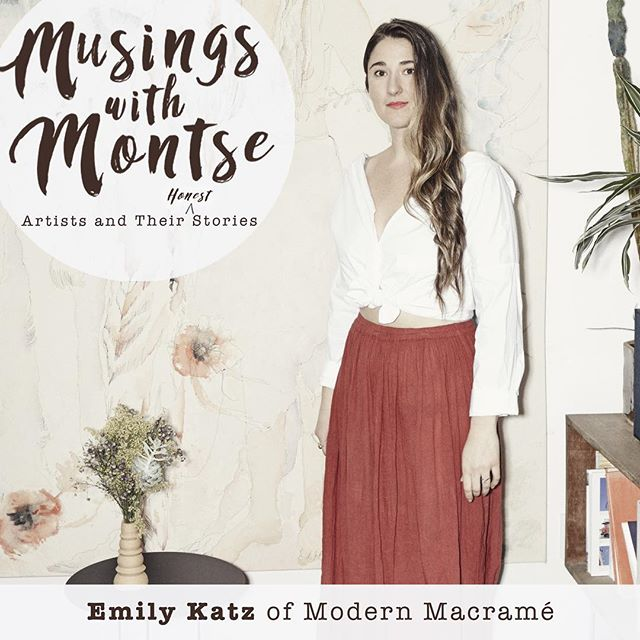 """Ep. 18🎙Emily Katz (@emily_katz ) of Modern Macramé (@modernmacrame ) is an artist (in many forms!) based in Portland, OR.  This conversation is woven with so many nuggets of wisdom from Emily. She tells us about her beautiful creative story, shares some of her coping mechanisms for when she's going through a rough day, and speaks about those moments that happen to all of us - as she puts it """"even if you have everything that you imagine and dreamt up, you can still feel terrible"""" - and about learning to forgive yourself when you do feel that way, remembering that we all do sometimes.  We cover a lot of ground in the episode! I think Emily is so inspiring and lovely, and I know you are going to really enjoy hearing her story. 🎧 Link in bio"""