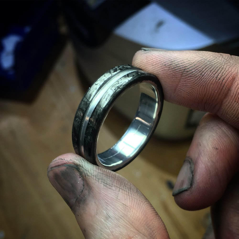 Every ring is carefully checked after being made for any type of cracks, voids, or other imperfections