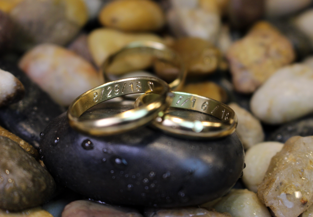 Engraving +$3/character - Engravings are the cherry on top when it comes to ring design. They're small and are only seen by you yet they add a really special feature to any ring truly marking it yours.