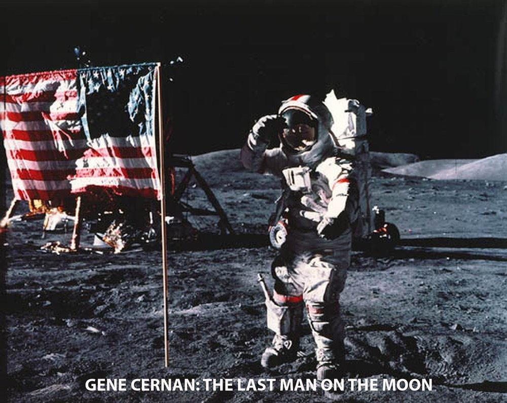 Fig. 3 - Gene Cernan on the Moon