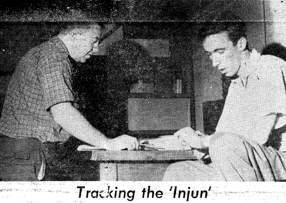 Brian J. O'Brien and James van Allen tracking the Injun 1 satellite.