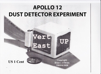 Apollo 12 Dust Detector with 3 orthogonal cells.