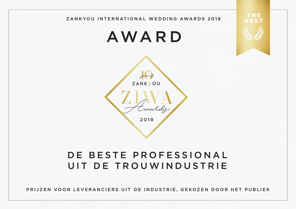 Beste Feest- en Trouwlocaties van 2018Zankyou International Wedding Awards - Noord-Brabant