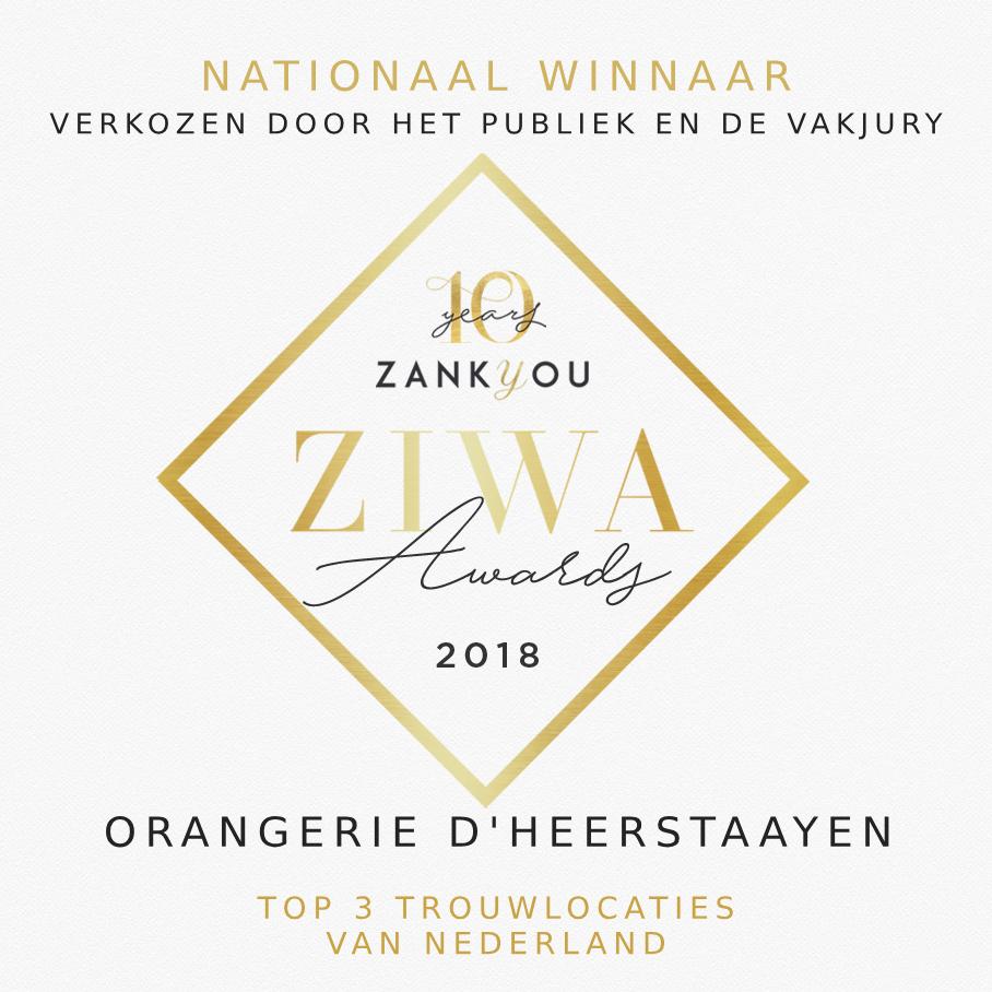 Nationaal winnaar Top3 Trouwlocaties -