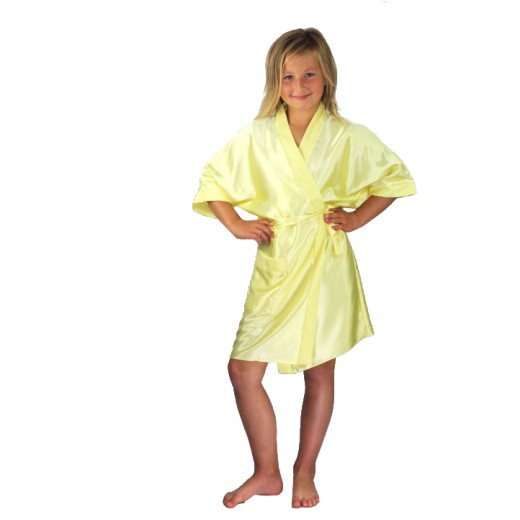 935a9df92c Bridesmaids Flower Girl Satin Dressing Gown Yellow