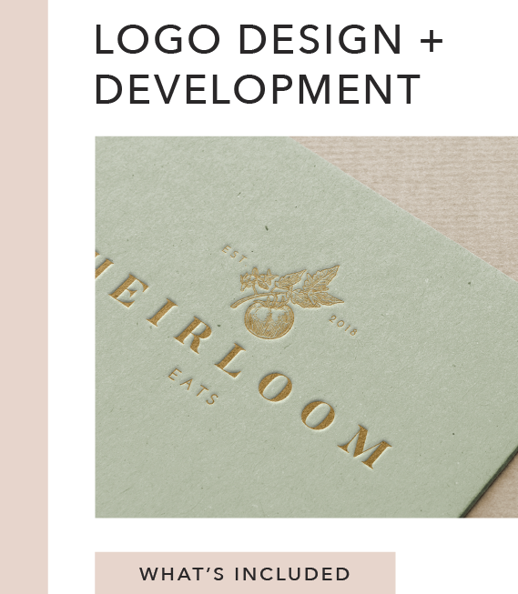 What's Included:   Mood Board Primary Logo Secondary Logo Custom Marks + Icons Logo Usage Guidelines