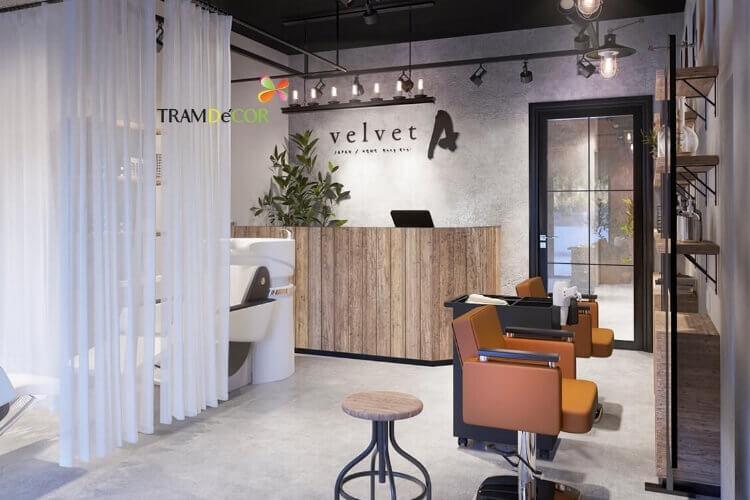 thiết kế trang trí nội thất SALON VELVET - Thời Gian: 10/2017Địa Điểm: Quận 1, Hồ Chí Minh, Việt NamDiện Tích: 60m2