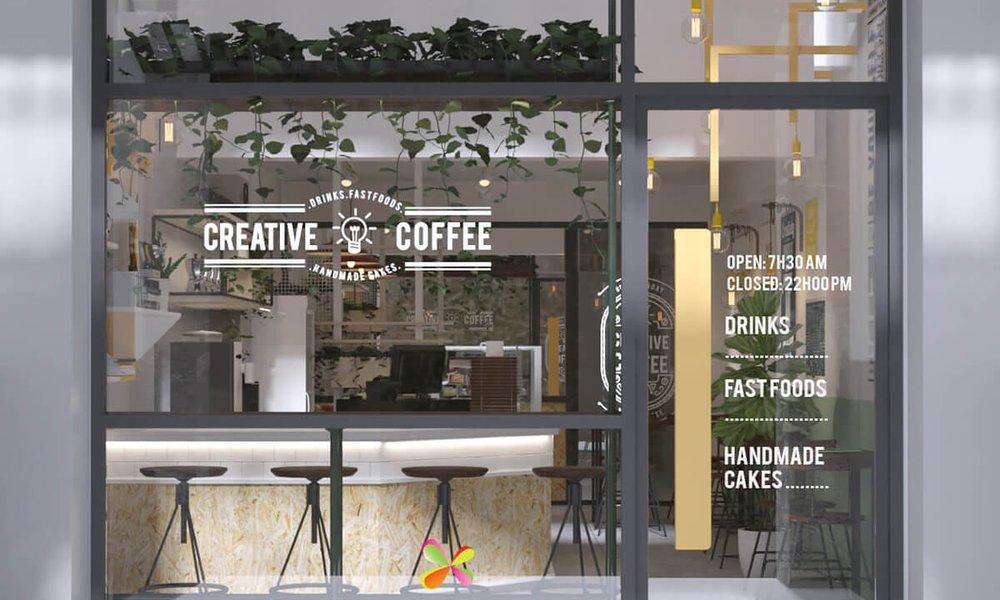 thiết kế cafe TAKe away -