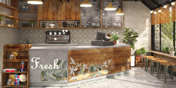 Đơn giản, hút khách với không gian cafe fresh