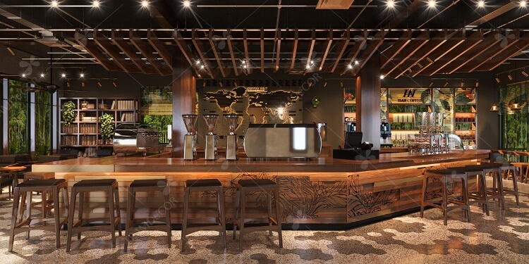 Không gian nội thất vintage ấn tượng với Han Coffee