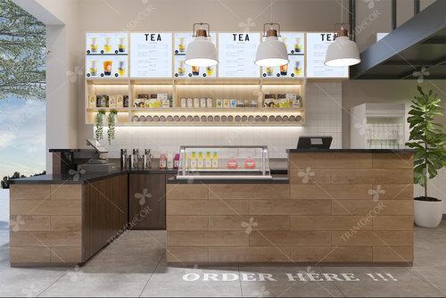 Thiết kế nội thất thương hiệu trà sữa Tiên Hưởng