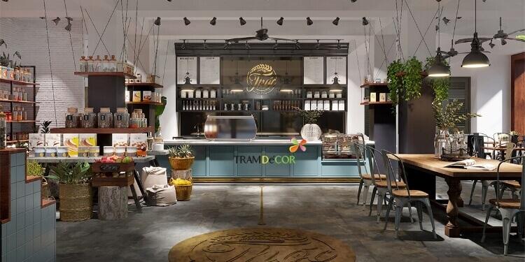 Tiện nghi và nổi bật với thiết kế cafe mang phong cách công nghiệp