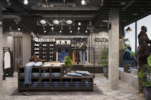 Nâng tầm thương hiệu với không gian chuỗi cửa hàng Routine