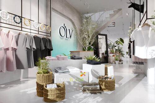 Thiết kế nội thất sang trọng cho cửa hàng thời trang