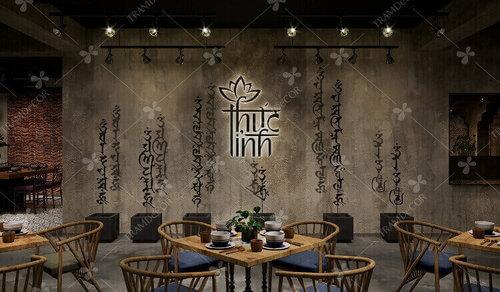 Không gian sáng tạo với thiết kế nội thất nhà hàng chay