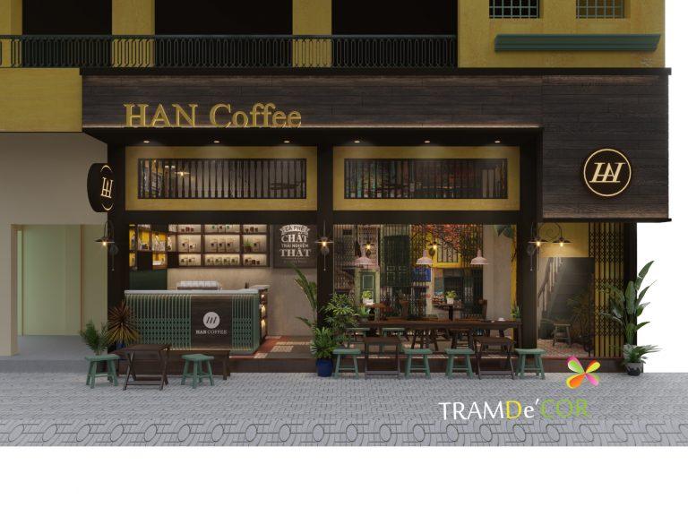 Thiết kế mặt tiền quán cafe phong cách cổ xưa tạo ấn tượng ngay từ lần đầu cho thực khách và kể cả những người qua đường.
