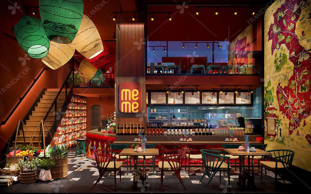 nhà hàng meme - Thời Gian: 11/2018Địa Điểm: Hà LanPhong cách: thiết kế nội thất nhà hàng phong cách Á Đông kết hợp Indochine