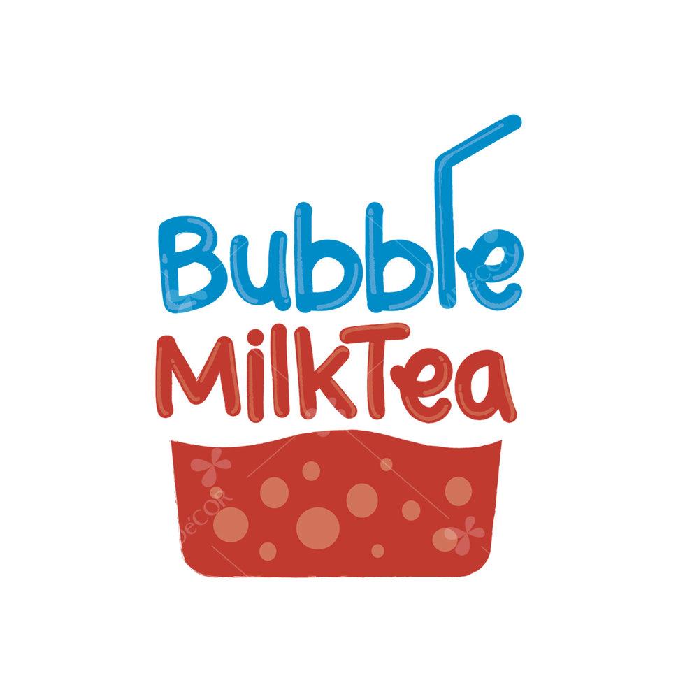 Logo trà sữa Bubble Milktea