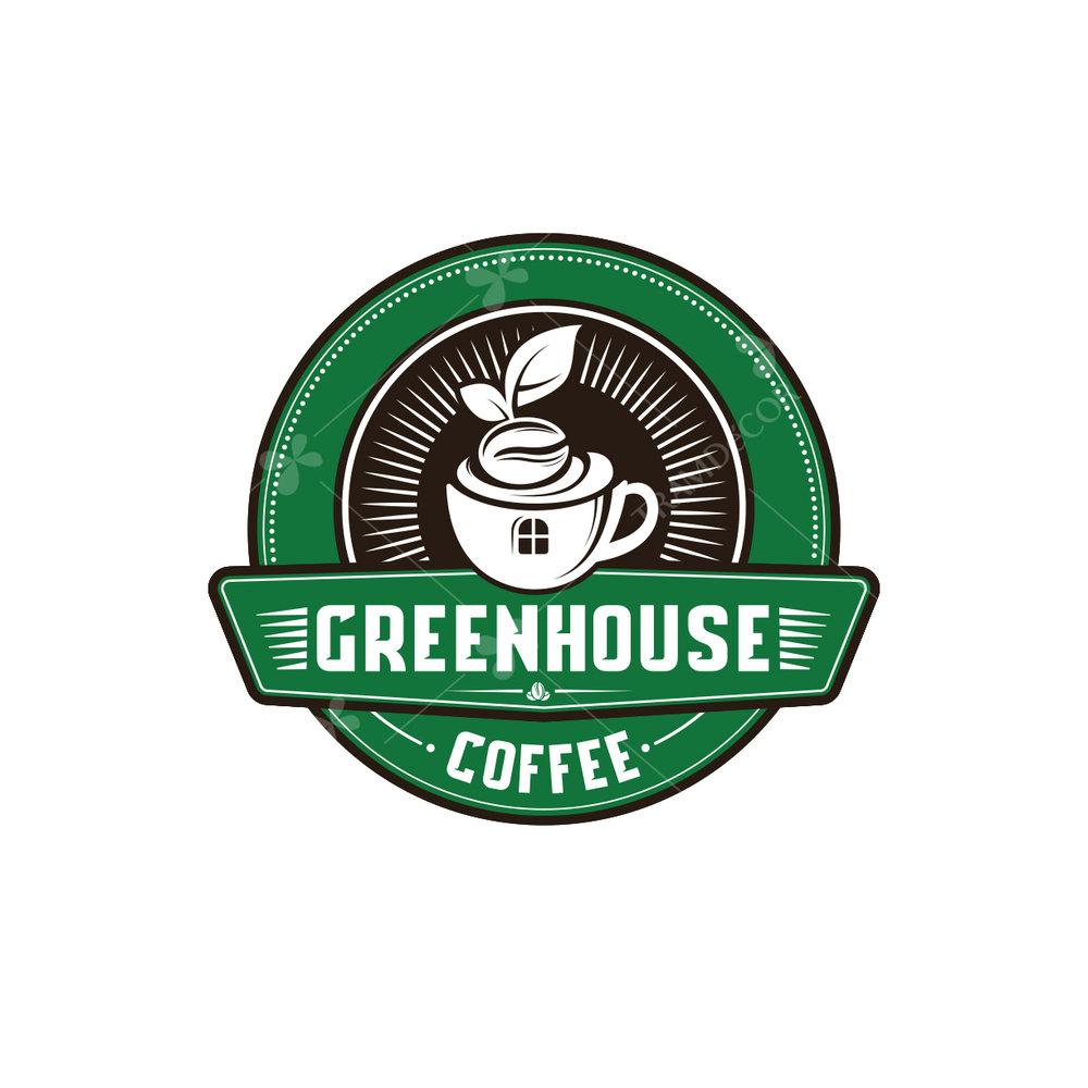 Logo cafe Green house