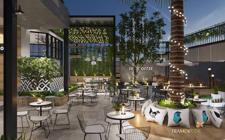 Nội thất Sky Coffee Sân Vườn