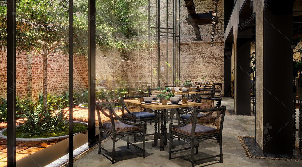 Nội thất nhà hàng Chay