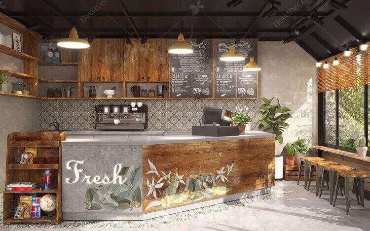 Nội thất cafe Fresh