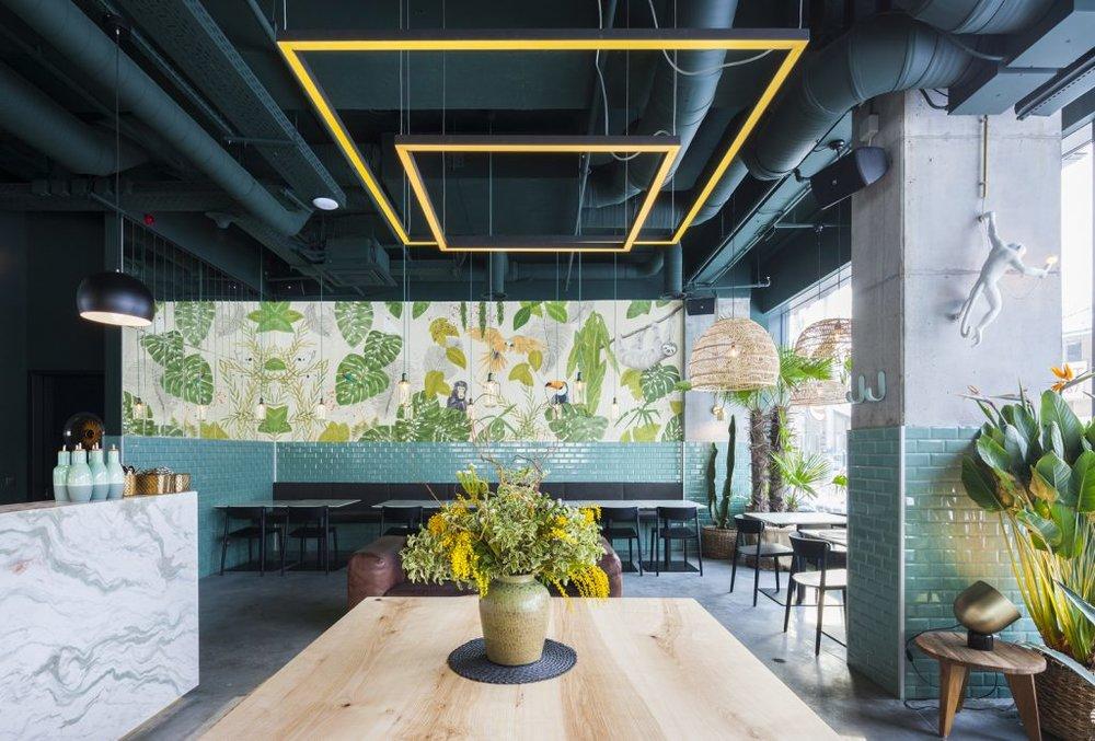 Thiết kế nhà hàng phong cách nhiệt đới