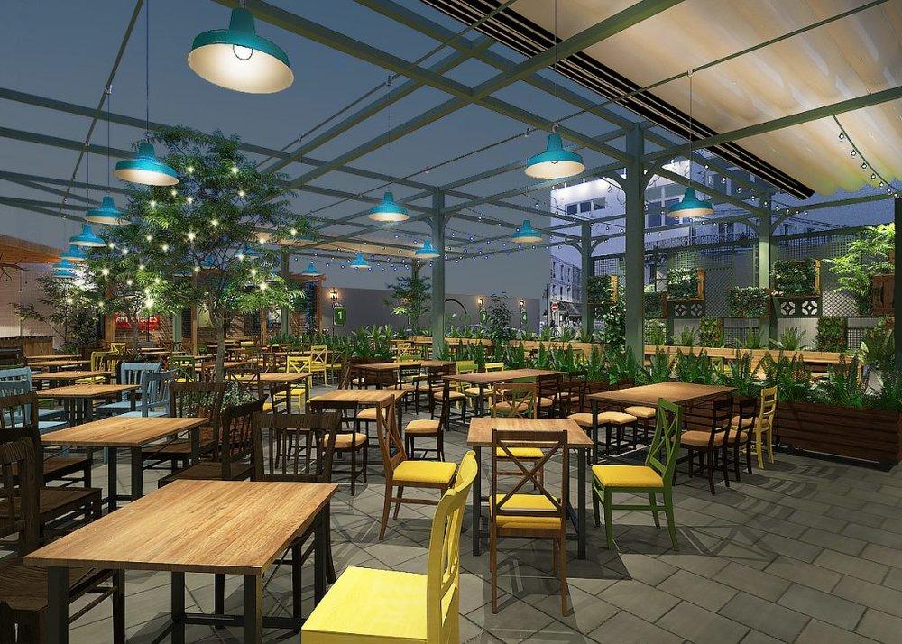 Không gian rộng lớn, thoáng đãng với cách bố trí các khu vực bàn ăn hợp lý, dễ dàng cho các nhóm đối tượng khách khác nhau lựa chọn