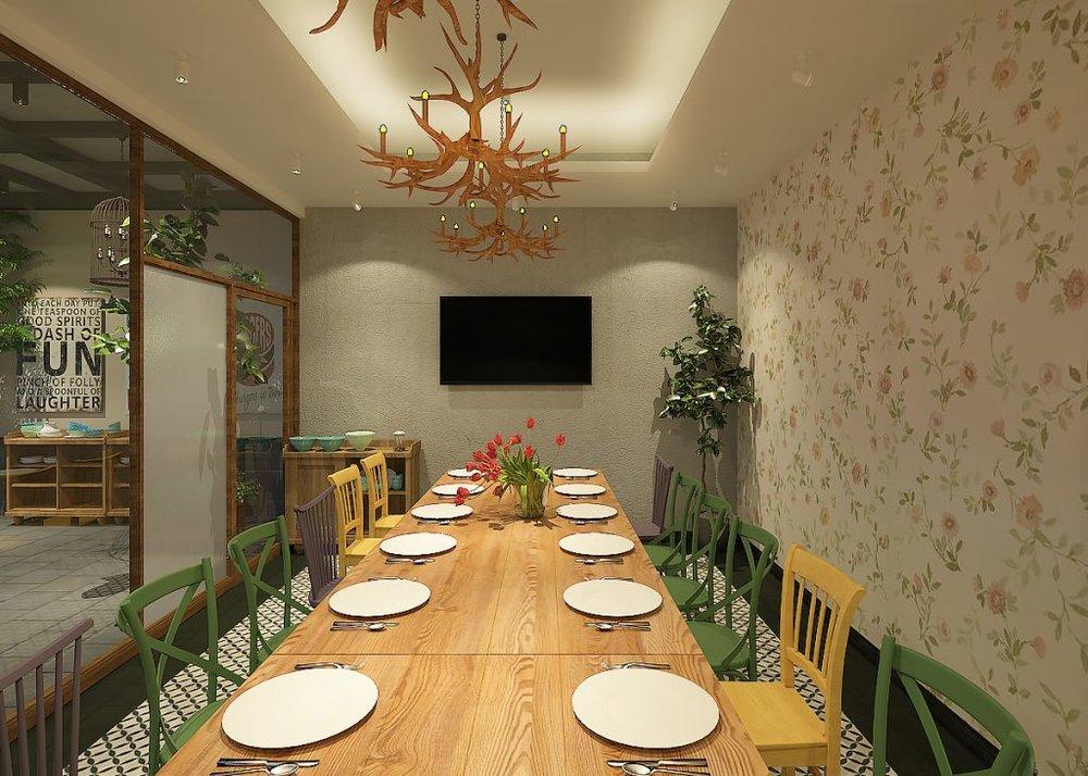 Phòng ăn riêng cho bạn cảm giác riêng tư nhưng vẫn thân thiện, gần gũi