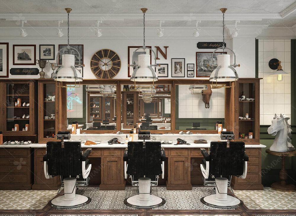"""Một """"BARBER SHOP"""" được thiết kế độc đáo cũng chính là lời giới thiệu vô hình về người chủ salon."""