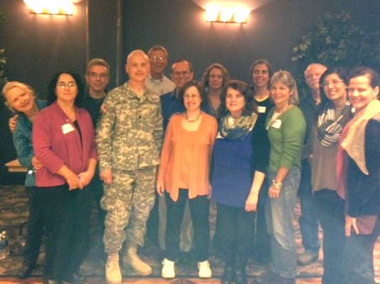 - cOL. mORISSY WITH BBM Teacher VOLUNTEERS AT fORT dRUM