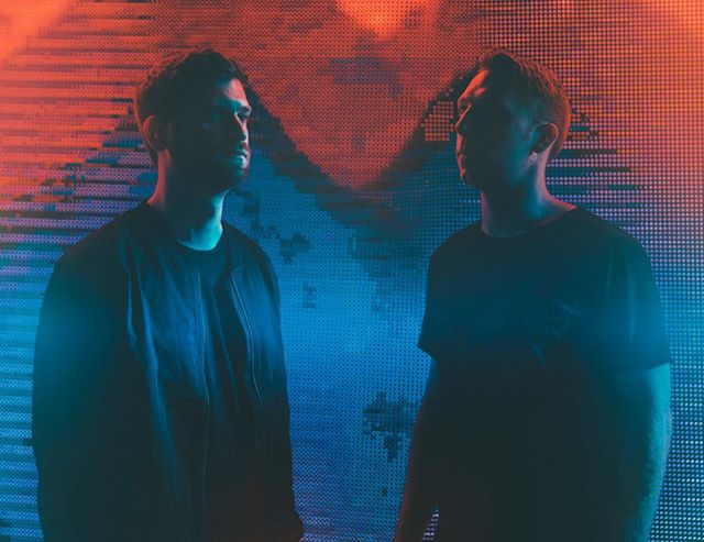 this is a picture of @odesza staring at each other, taken by dani hansen.  tonight, catch them playing rather excellent electronic music from a sold-out brixton live on our story!