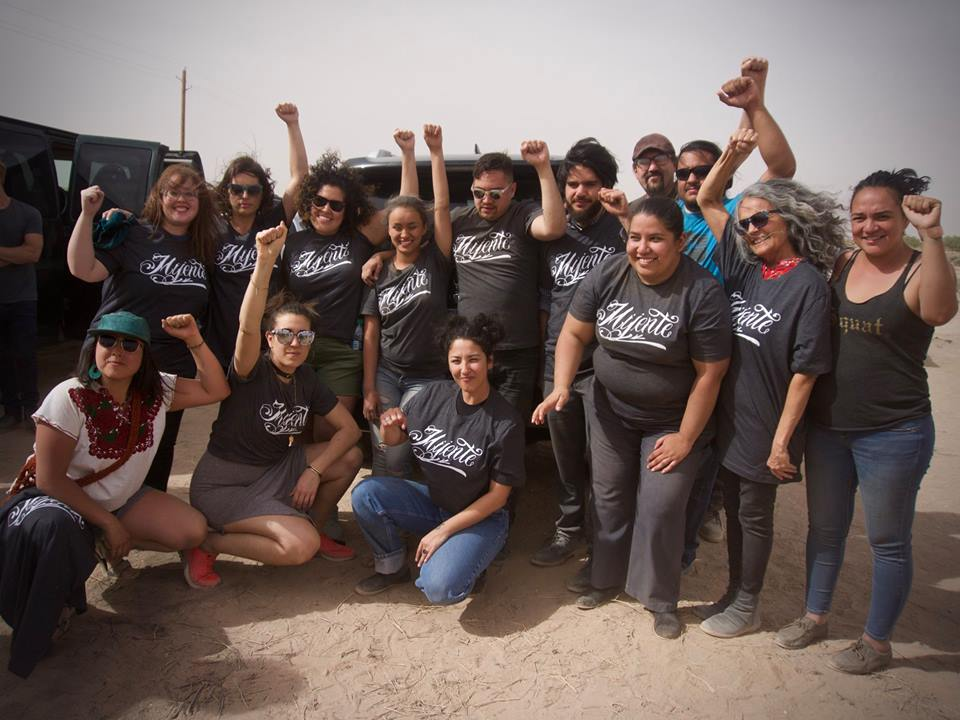 April 19, 2018: Ale with Mijente members after being released from Eloy Detention Center.