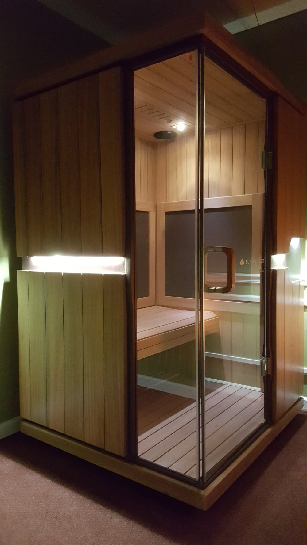 - INFRARED sauna: 30 minute session$25 - per person$115 - 5 pack Sauna Session - per person$199 - 1 month unlimited - per person