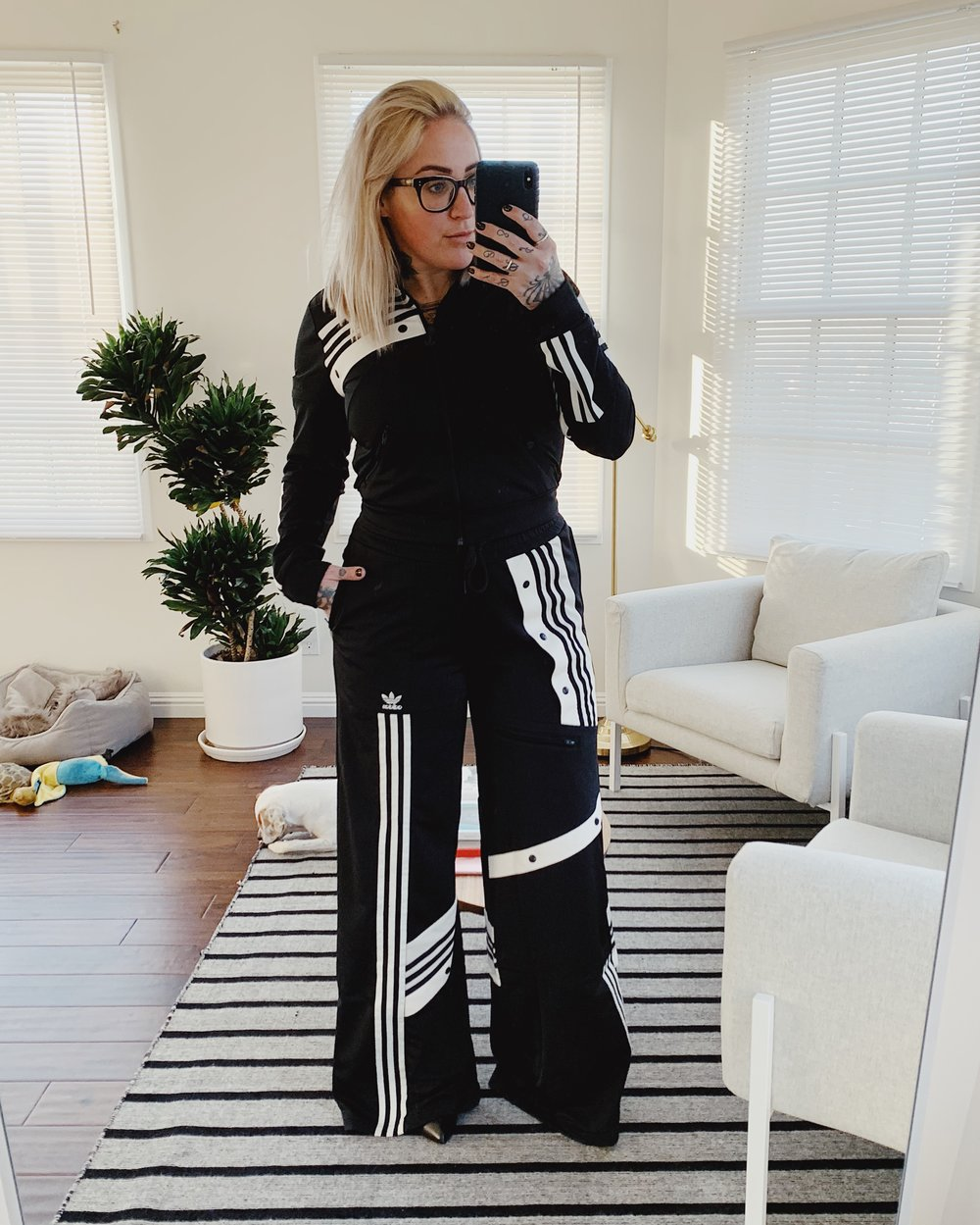 Chic à la sportive - Adidas x Daniella Cathari…HOLY PERFECTION! Can we talk about this chic-ass tracksuit for a minute?! I'm very lucky to have scored this in black as it sold out automatically, but it comes in many other colors that I will link below. So being 5'3, these pants are VERY long and I have to wear my tallest heels with for the perfect fit and it's worth every blister! Everything fits as it should and it's just so versatile. I can't wait to wear the track jacket with high waisted jeans, and pair the track pants with a fitted turtleneck! Keep an eye out for those upcoming looks on my Instagram.Click here to shop track jacket.Click here to shop track pants.