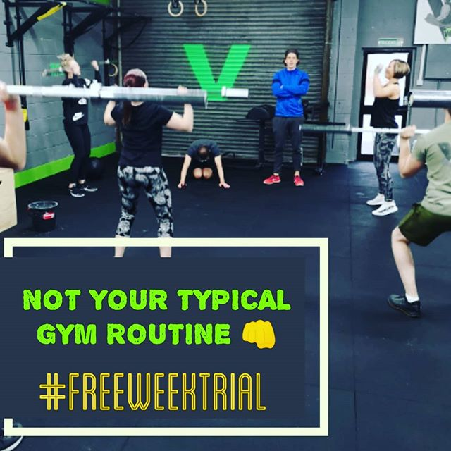 NOT YOUR TYPICAL ROUTINE 😊🙏👊. ➖➖➖ Try us out to find out for yourself, we are still offering a FREE weeks trial for anyone who wants to come along! Our classes are catered for ALL levels of fitness and will get you in serious shape! Alongside having a good time aswell 🤗