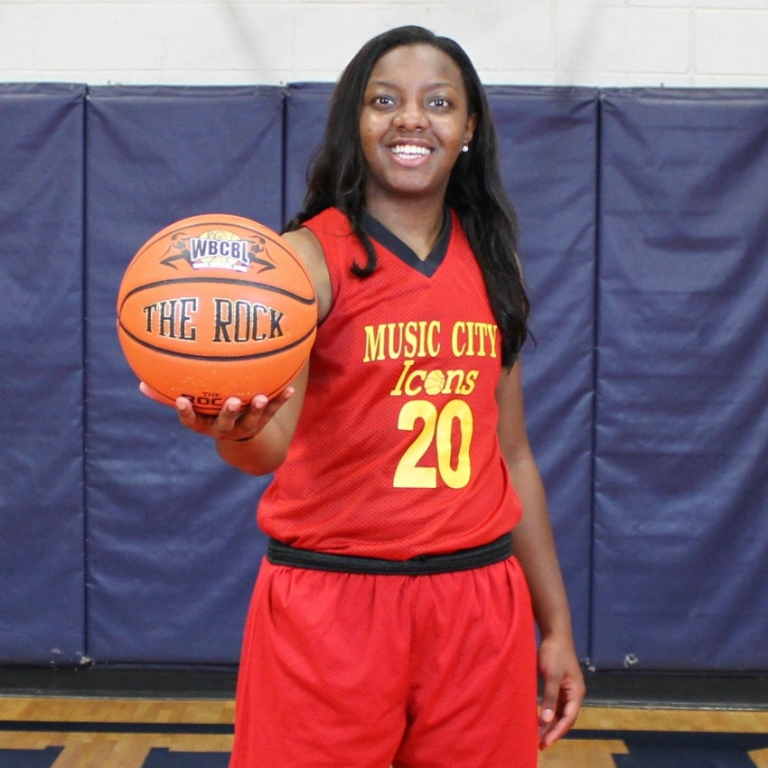 "#20 Erisha Talley - 5'9"" - GuardCollege: Bryan CollegeHometown: Alexandria, VA"
