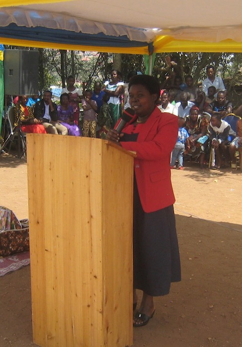 Our Guest of Honor was Valerie D Mukamutari,  Exective Secretary of the Cyeza Sector.