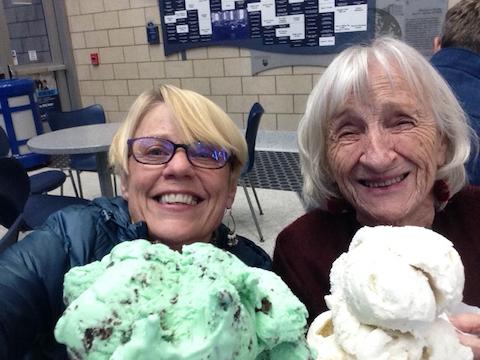 Carol and Mama and the ice cream challenge. How awesome, and mine is vanilla, my favorite.