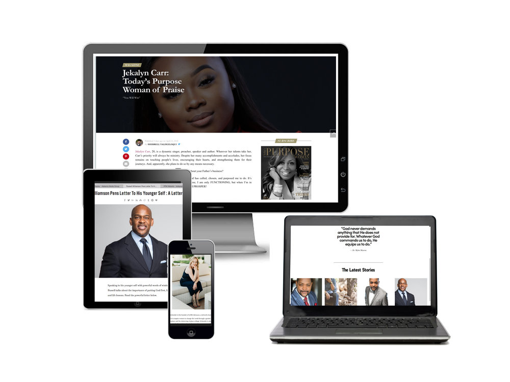 Online Advertising - With a combined social following of 50K+ consumers, Promoting Purpose offers ministries and purpose-driven brands ads, advertorials, social media posts, and ministry/business directory listings through its influential online/websites: Today's Purpose Woman and Today's Purpose Man.