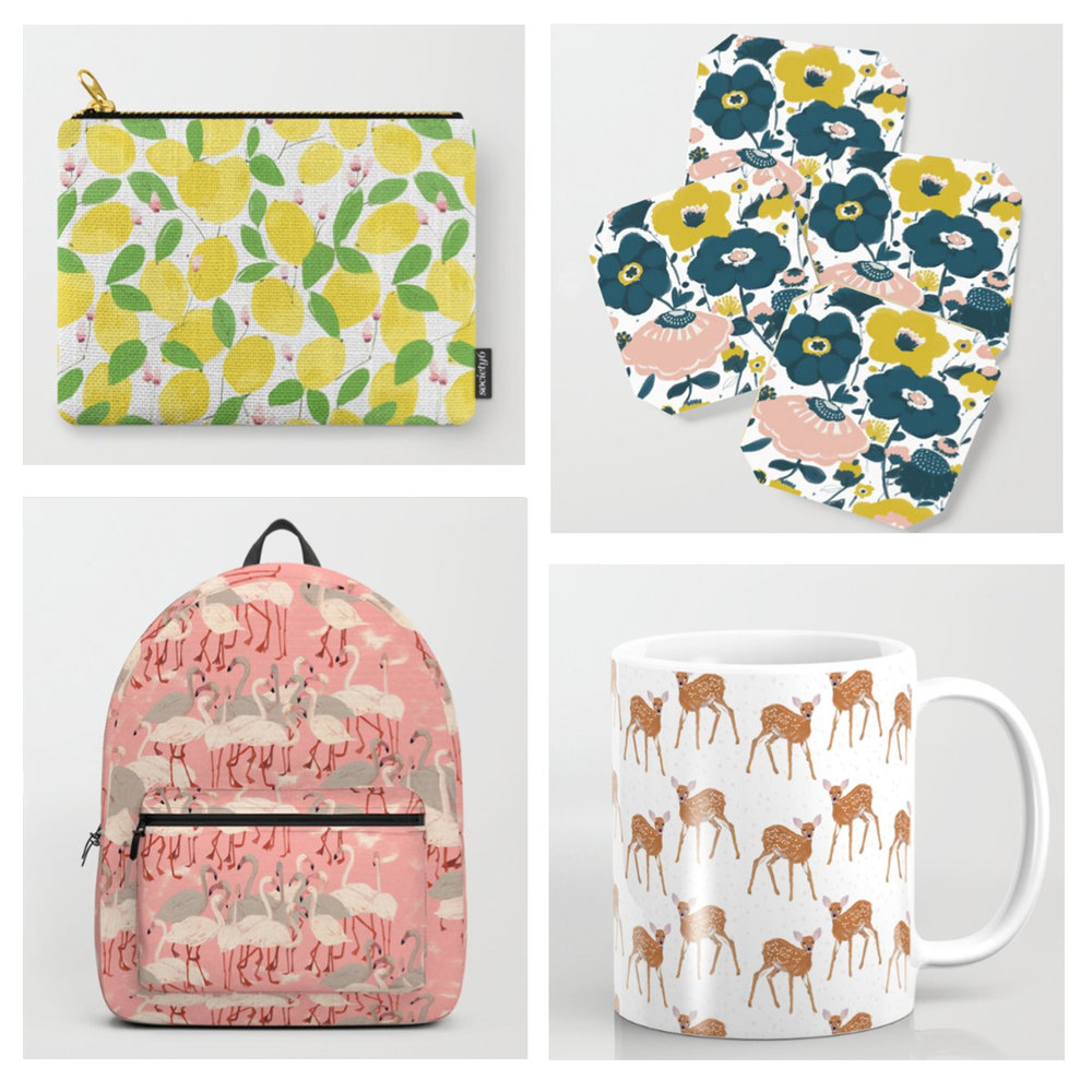 Holiday gift ideas on  Society 6