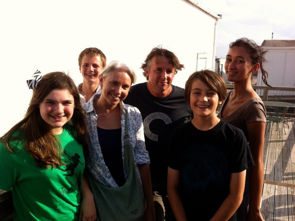 AYFF Alums and Co-Founder, Carrie Cates meeting Richard Linklater after an AYFF Meet and Greet at AFS.