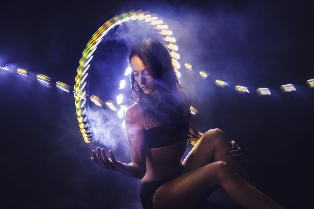 Tiny-tube light-painting with Kim Henry