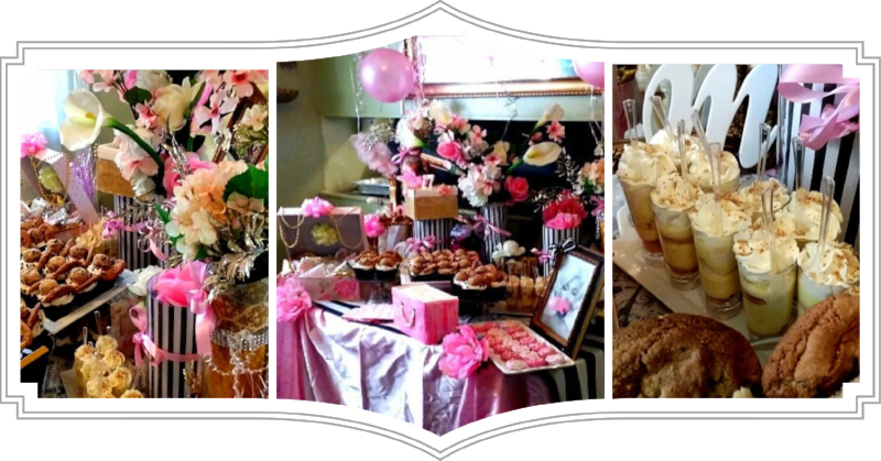 Miss Leigh's 17th Birthday Dessert Table at her residence in West Lanham Hills, MD.