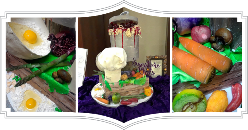 Chef Inspired Centerpiece Cake for the March of Dimes' Signature Chef Auction at the Marriott Marquis, NW, WDC.