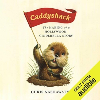 AudioFile Review - Narrator Peter Berkrot has a meta connection to this story of how the classic comedy CADDYSHACK came to be. A young Berkrot is in the movie, most memorably on the business end of a pitchfork during Bill Murray's iconic dalai lama speech: