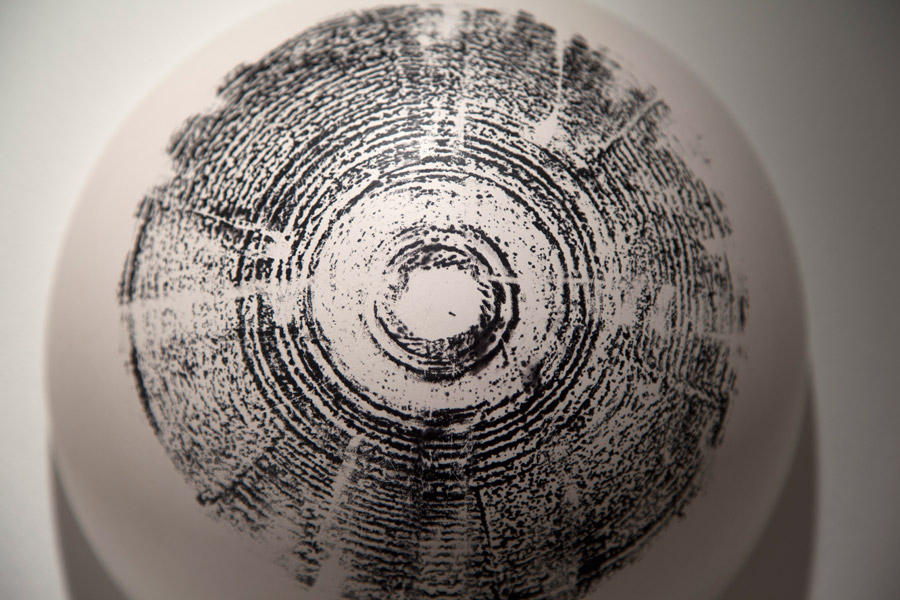 """Detail. Mine & Yours 54""""W x 12""""H x5""""D. Ceramic, Ink, Charcoal, Wax. (2012)"""