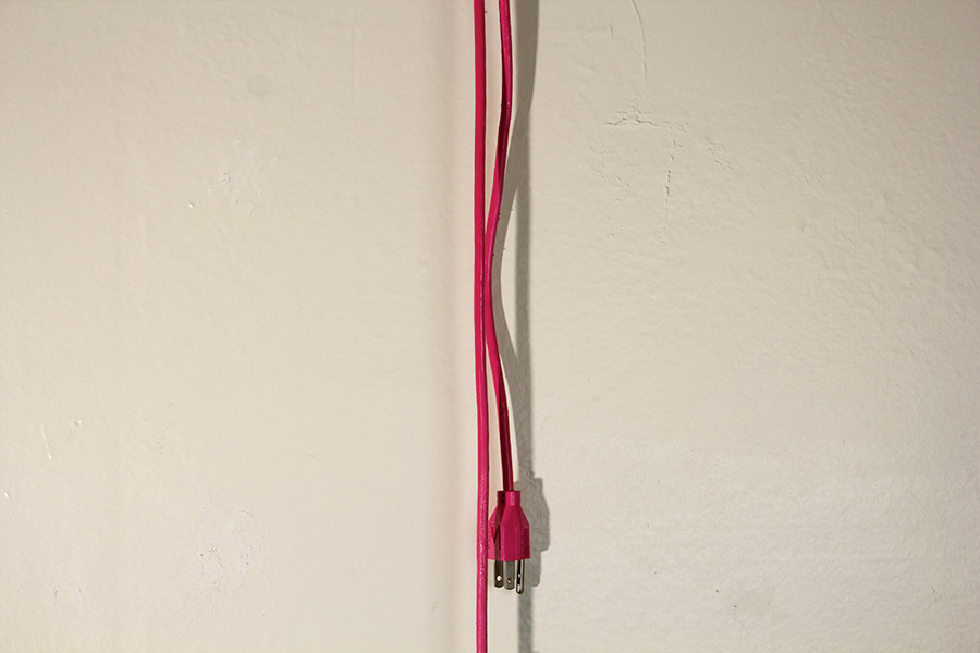 "Blowdryer as Idol. 11""W X 49""L X 6""D. Pine, Plastic. (2012)"